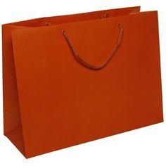 Orange Matte Gift Bags (16 x 12 x 6)-100 bags per box - http://www.specialdaysgift.com/orange-matte-gift-bags-16-x-12-x-6-100-bags-per-box/
