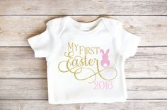 Easter Onesie Easter Shirt My First Easter 1st by TheMintLulu