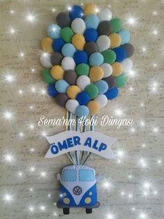 Sema'nın Hobi Dünyası Keçe Balonlu Kapı Süsü