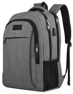 61354cf227c Travel laptop backpack,Business Anti Theft Slim Durable Laptops Backpack  with USB charging Port ,Water Resistant College School Computer Bag for  Women   Men ...