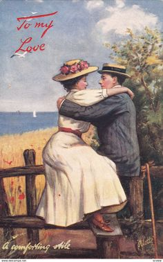 """VALENTINE'S DAY: Romance Couple ; """"a comforting Aile"""" , 00-10s ; TUCK"""