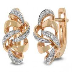 0.15ct 14k Rose Gold Diamond Earrings - allurez.com