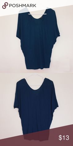 Express Women's Dolman Sleeve Ruched Neckline Top Express Women's Dolman Sleeve Ruched Neckline Tee Knit Casual Top Teal Blue/Green Size: Small Brand New with Tags! Express Tops