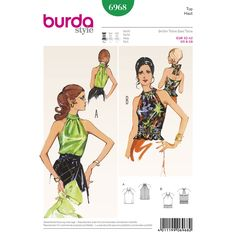 stylish, feminine retro-look tops. strapless, with cute stand-up collar holding   the gathered front and back in place. or backless, tied in the back, with smocked, fitted waist.
