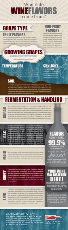 Where Do Wine Flavors Come From? [Infographic] — Drink Crate #wine #winewducation