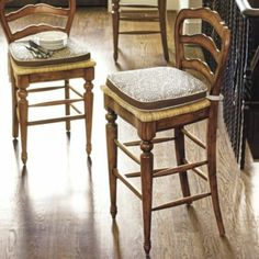 Avignon Barstool -  Classic Bar Stool  Country French look~ love the back detail!