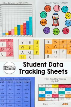 Data Collection tools for progress monitoring and organizing. Ideas and resources for the special education classroom and caseload. #datacollection #datatracking #progressmonitoring