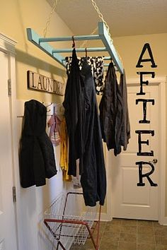 Love this for the laundry area. My challenge is the ceiling isn't very high. What to do?
