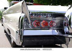stock photo : Classic car rear end