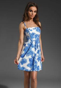 SHOSHANNA Santorini Print Lola Dress in Cobalt Multi at Revolve Clothing - Free Shipping!