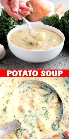 Serve this delicious soup with homemade bread or rolls and sit back and enjoy Spring. Serve this delicious soup with homemade bread or rolls and sit back and enjoy Spring. Best Soup Recipes, Chicken Soup Recipes, Healthy Soup Recipes, Vegetarian Recipes, Potato Soup Recipes, Simple Soup Recipes, Potato Soup Vegetarian, Mexican Soup Recipes, Creamy Soup Recipes