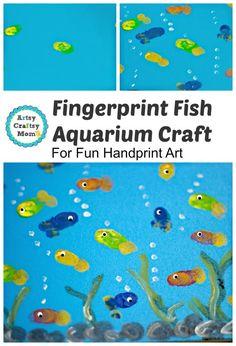 Fingerprint Fish Aquarium Craft