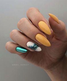 Newest Coffin Acrylic Nail Art Designs 2019 nails;nailsinspiration Newest Coffin Acrylic Nail Art Designs 2019 nails; Cute Acrylic Nails, Cute Nails, Pretty Nails, My Nails, Grow Nails, Rose Gold Nails, Yellow Nails, Solid Color Nails, Nail Colors