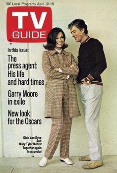 TV Guide: April 12, 1969 - Dick Van Dyke and Mary Tyler Moore: together again in a special