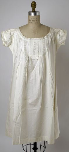 Chemise Date: early 1870s Culture: American or European Medium: cotton