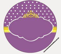 Etiquetas de Princesa Sofía, para Candy Bar, para Imprimir Gratis.