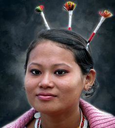 People portrait photograpy.  Travel Photography. https://flic.kr/p/DmxCtN | Kachari tribe woman. |                                       India, Nagaland.  The Hornbill festival is a yearly feature in the first week of december. The festival is held at Naga Heritage Village Kisama, 12 km from Kohima.