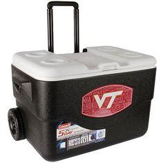 Coleman 50-Quart Xtreme Wheeled Cooler, Official Virginia Tech University Hokies Design