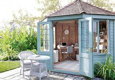 50 Popular DIY Backyard Studio Shed Remodel Design & Decor Ideas - Page 11 of 56 Shed Office, Backyard Office, Outdoor Office, Backyard Studio, Backyard Projects, Backyard Sheds, Backyard Designs, Garden Studio, Outdoor Sheds