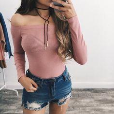 Taylor Off Shoulder Top (Pink)