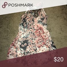 New embellished floral dress Beautiful floral sleeveless  dress by Mille Gabrielle. New! With beautiful embellished neck line. I bought from store but never wore it. Great for summer! Mille Gabrielle Dresses