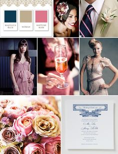 Gia Graham Color Palette: Majolica Blue, Nomad and Rapture Rose - Southern Weddings - Southern Weddings Magazine