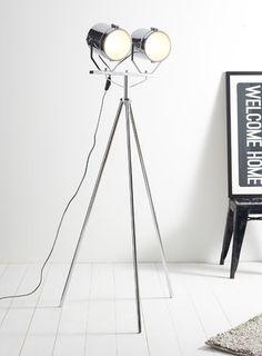 Giles camera floor lamp