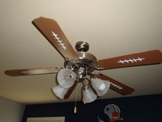 ceiling fan - they painted it