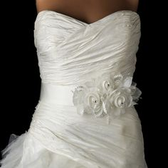 Glitzy Pearl and Crystal Beaded Wedding Dress Belt Sash - fabulous style with pearls and rhinestones to complement your gown- Affordable Elegance Bridal - Organza Bridal, Bridal Sash Belt, Wedding Sash, Wedding Bridesmaid Dresses, White Wedding Dresses, Wedding Gowns, Bridal Belts, Bridal Gown, Organza Flowers