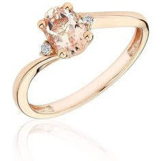 Reeds Morganite Bypass Ring ($250) ❤ liked on Polyvore featuring jewelry, rings, accessories and reeds jewelers