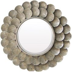 Wall mirror with distressed metal frame.   Product: Wall mirror   Construction Material: Metal and mirrored glass...