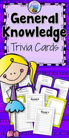 This package contains 24 rounds of general knowledge trivia questions to use in the classroom. All answers are included. Each round has 10 questions. Also included are response sheets for the students, that you may copy and make into a booklet.