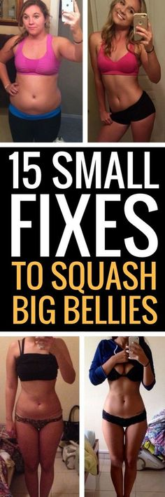 15 small changes to battle big belly fat.