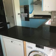 Nero Stella - Watford, Herts - Rock and Co Granite Ltd Watford, Work Tops, Granite, Washing Machine, Home Appliances, Rock, Design, House Appliances, Granite Counters
