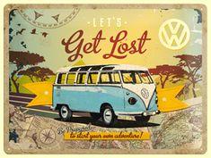 Blechschild, Nostaligic Art, Bulli, VW Bus, Hippie