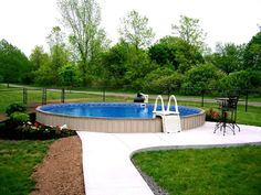 Semi Inground Pool Ideas semi inground pool landscaping ideas 24 semi in ground pool swimming pools and spas Semi Above Ground Pool Landscape Right Pool For You Considerations And