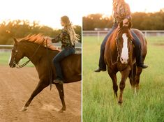 """Deanna Green – Class of 2017 – and her AQHA mare Mama Knows Best (""""Myrtle""""), palomino mare Blazinmytroublesaway (""""Buttercup""""), and cutting gelding Smart Gypsy Merada (""""Felix"""") at Rusty Green Show Horses in Pilot Point, Texas.  Deanna shows under the guidance of Capital Quarter Horses.  Hair and makeup by Devin Territo. Wardrobe by Pinto Ranch.  Photography by Kirstie Marie Photography www.kirstiemarie.com"""