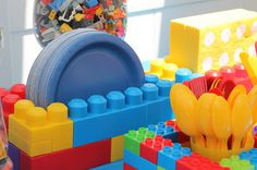 LEGO Birthday Party holders.