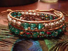 Super Sparkle Double Wrap Bracelet by RoxieJaneJewelry on Etsy, $24.00