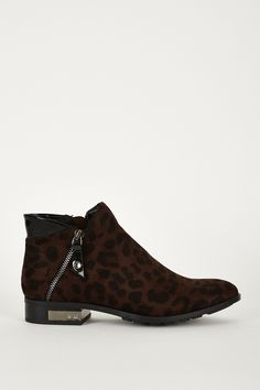 Pretty Leopard Print Chelsea Boots
