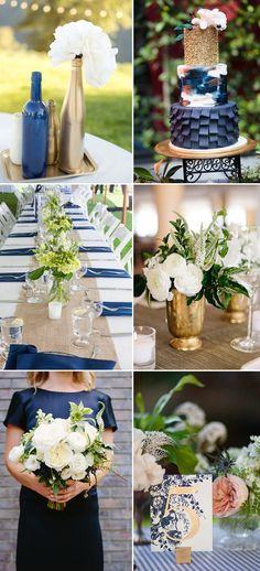 elegant navy and gold wedding themes ideas for 2017