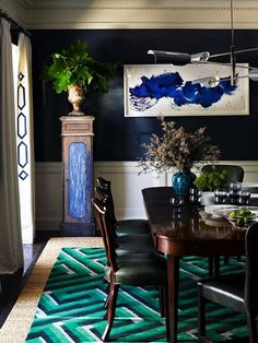 South Shore Decorating Blog: Weekend Roomspiration #12. Curtain finish. James Nares painting?