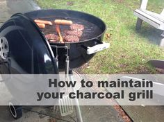 Tips for Cleaning a Charcoal Grill >> http://blog.diynetwork.com/maderemade/2013/06/19/quick-tips-for-cleaning-your-charcoal-grill/?soc=pinterest