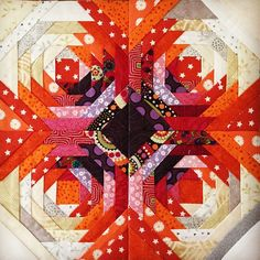 Love this version on pineapple quilt Mini Quilts, Cute Quilts, Scrappy Quilts, Small Quilts, Log Cabin Quilts, Barn Quilts, Log Cabins, Pineapple Quilt Pattern, Pineapple Quilt Block
