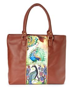 Look what I found on #zulily! Brown Peacock Smart Tote by Bagnology #zulilyfinds