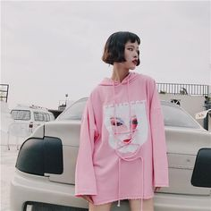 Harajuku oversized hoodie street fashion store aesthetic fashion harajuku k Harajuku Fashion, Japan Fashion, Kawaii Fashion, Fashion Outfits, Fashion Clothes, Fashion Ideas, Fashion Inspiration, Korean Fashion Trends, Korean Street Fashion
