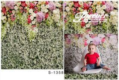 Digital Printing Photography Scenic Backdrops Colorful  Flowers Wall For Newborn,wedding Photography Backdrops S-1358