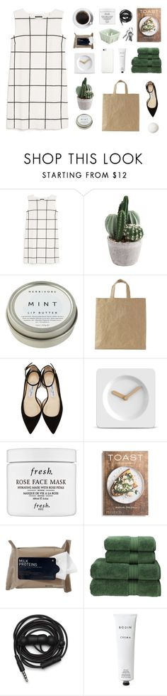 """are you gonna be my love?"" by fairly-local-on-the-radio ❤ liked on Polyvore featuring MANGO, CB2, Jimmy Choo, LEFF Amsterdam, Fresh, PHAIDON, Korres, Christy, Urbanears and Rodin"