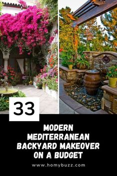 33 Modern Mediterranean Backyard Makeover On A Budget - HomyBuzz