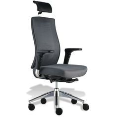 The Trini Black Mesh Executive Chair by Jesper Office is highly supportive, with a thick contoured seat, an adjustable tension bar and adjustable lumbar supp. Cool Office Desk, Grey Office, Adjustable Office Chair, Ergonomic Office Chair, Office Furniture Stores, Home Office Chairs, Revolving Door, Conference Room Chairs, Grey Chair